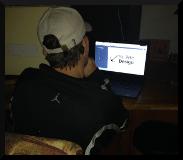Jeremy viewing St. Pete Design's site