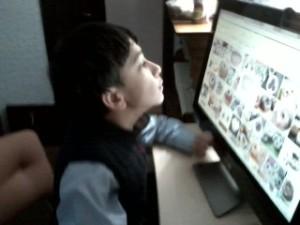 Brian at the computer