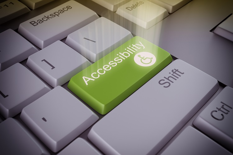 "A picture of a button on a keyboard that says ""Accessibility""."