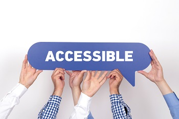 A picture of the word accessible